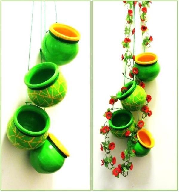 Easy DIY Flower hanging Pots