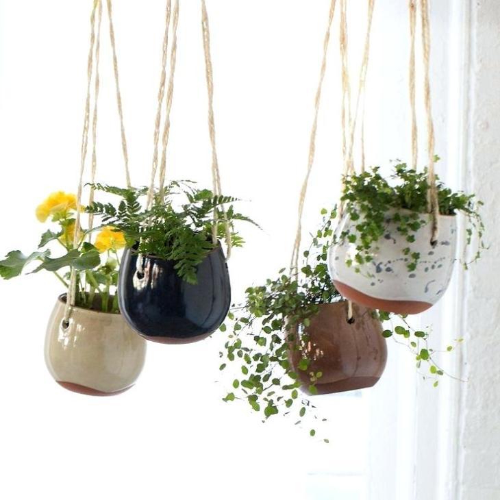 DIY flower clay pots