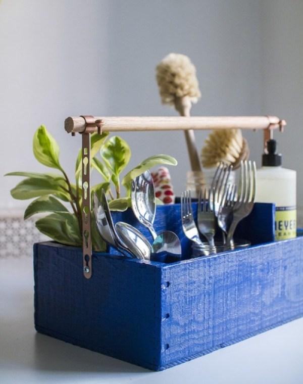 DIY vintage utensil organizer