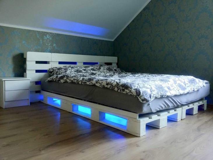 DIY Standard Double Pallet Bed