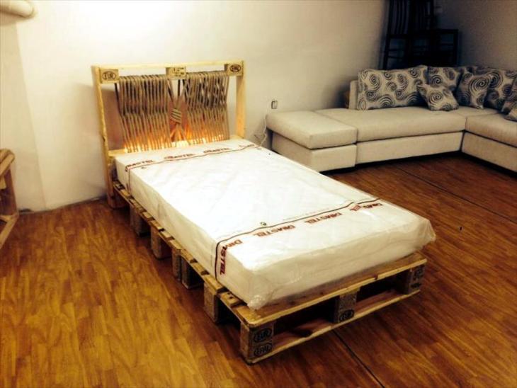 DIY Wooden Pallet Frame Beds