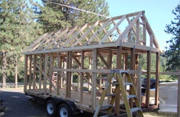 Building a wood tiny house