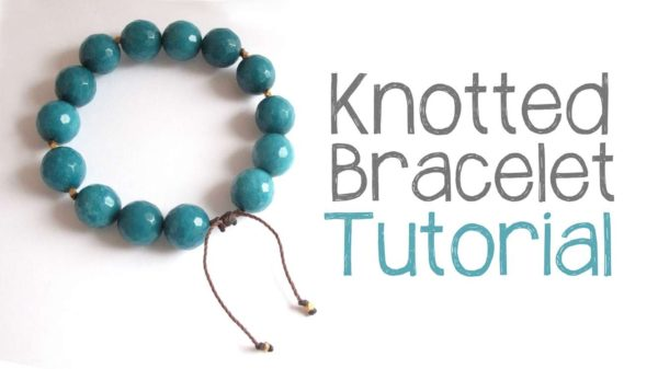 DIY KNOTTED BEAD BRACELET