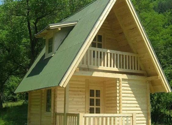 outdoor wood cabin