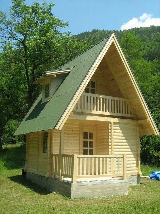 outdoor wood cabin