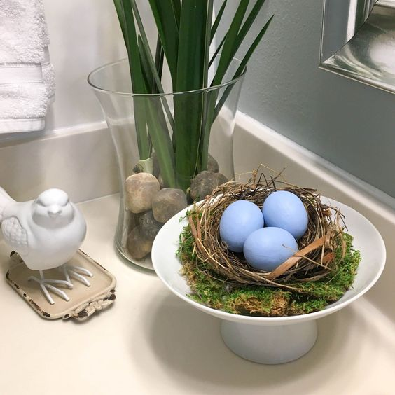 diy bird nest eggs decor ideas