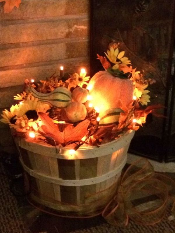 diy basket display for fall
