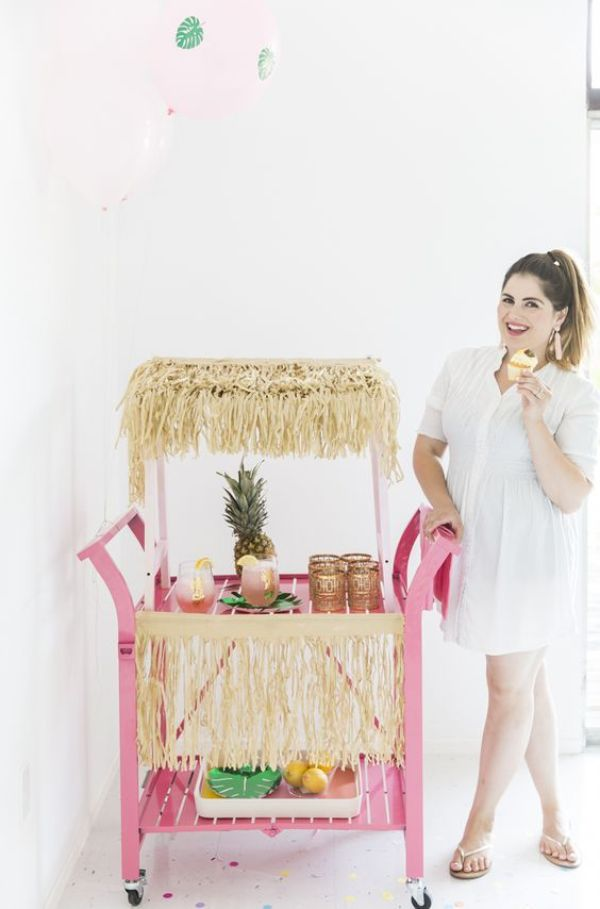 DIY TROPICAL BAR CART