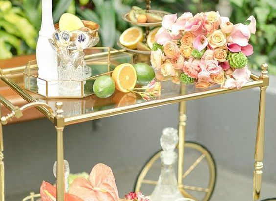DIY TROPICAL FRUIT BAR CART