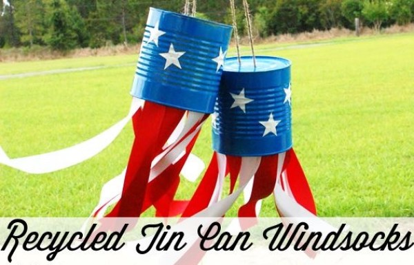 recycled tin can windsocks kids crafts