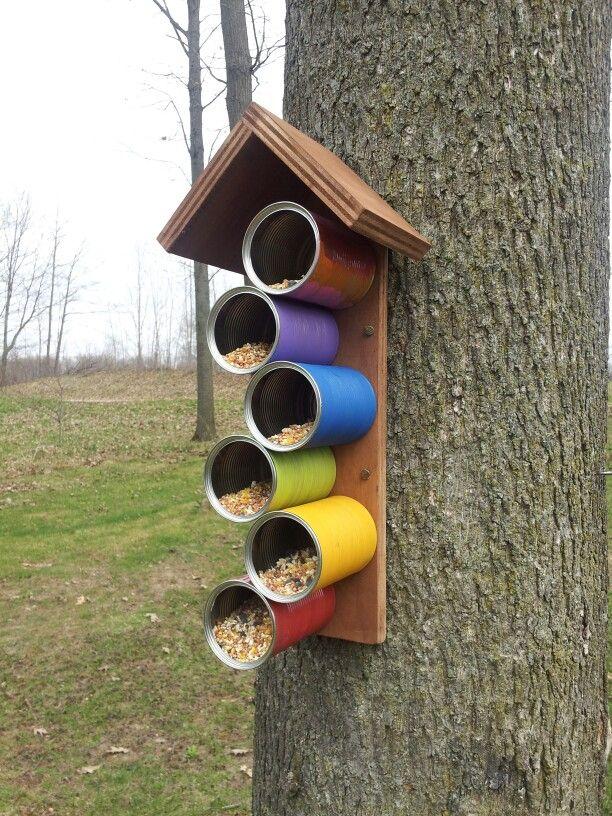 creative bird feeder