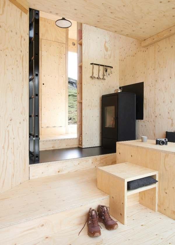 inside offgrid cabin