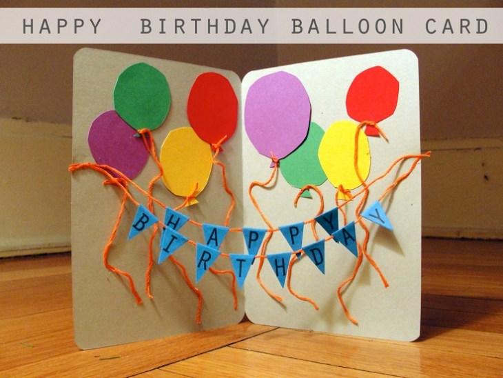 homemade birthday cards for kids