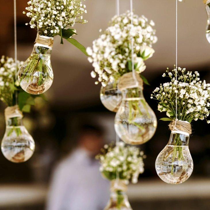 Light bulb flower holders