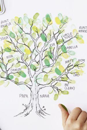 DIY Thumbprint Family Tree