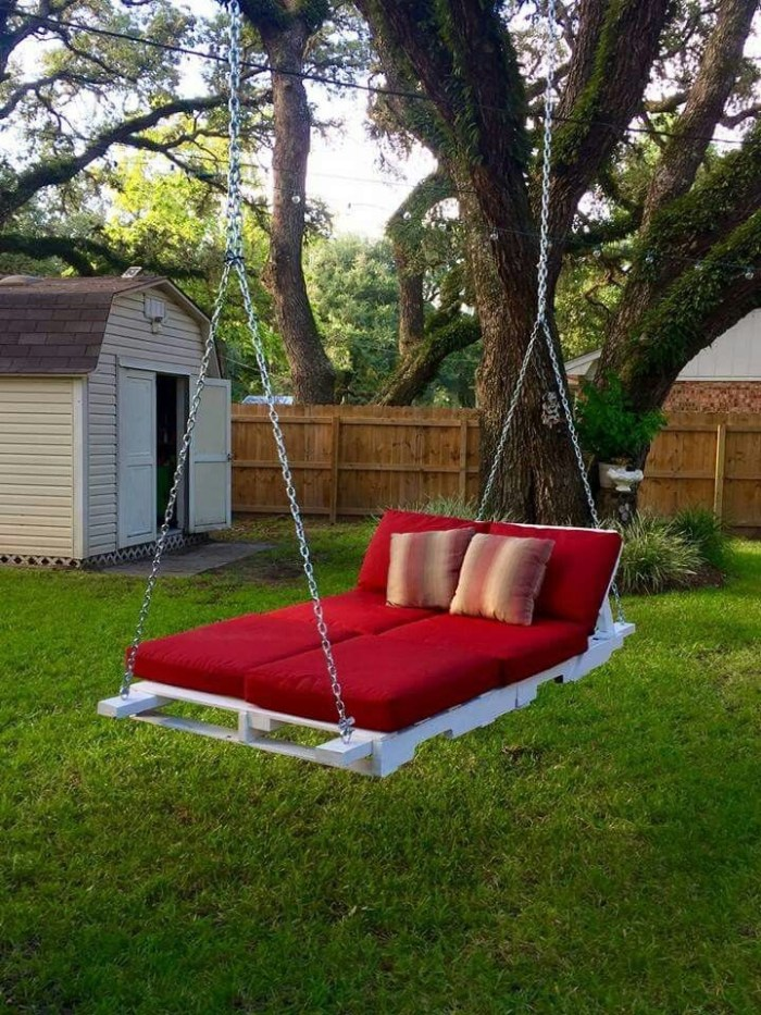 How to build a pallet swing