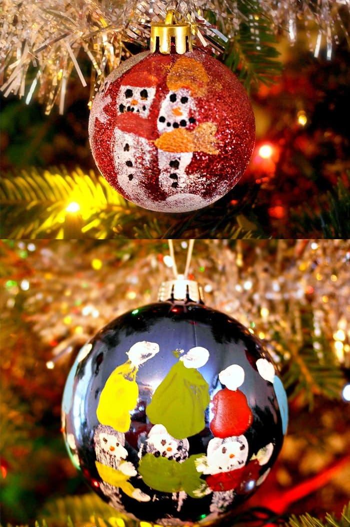 Fingerprint-Snowmen-Ornaments-Kid-Made-Christmas-Ornaments
