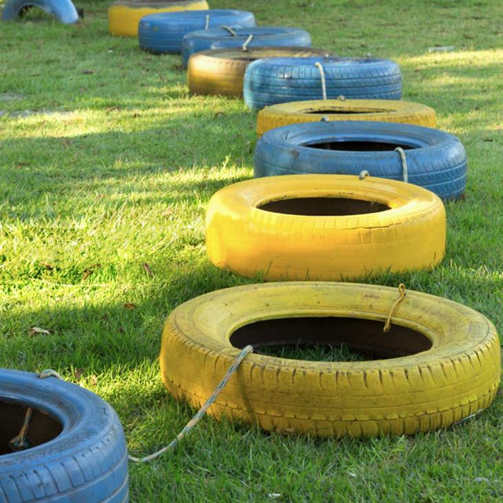 old tire course