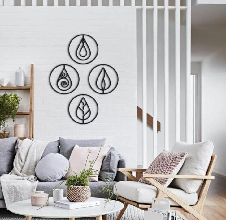Wall Decoration Four Elements Art