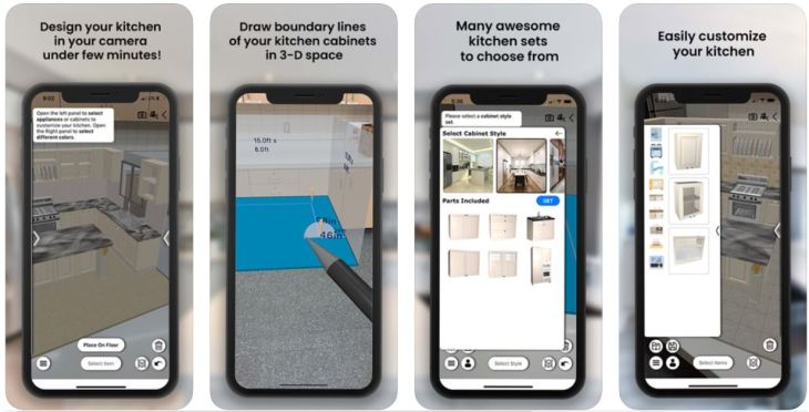 AR Kitchen Design App