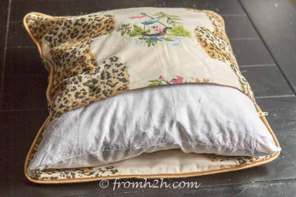 DIY sofa cushion cover