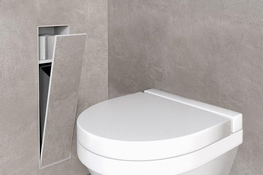 Encastrement WC Poubelle Et Niche Murale Blanc Easy Drain