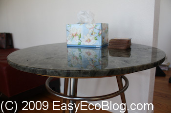 Granite Countertop, table made from Granite countertop remnants