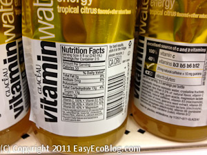 Vitamin Water Nutrition Label Sugar Content