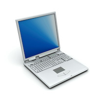 green eco-friendly notebook computer