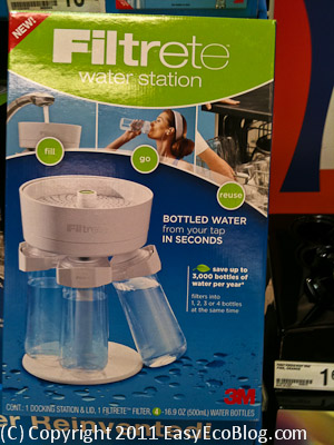 Filtrete water station, water filter, water bottles