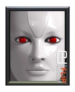 Flip up Frame, Round Flip Frame, Snap Frame, Black Poster Frame, Movie Poster Frames, Robopacalyps movie poster
