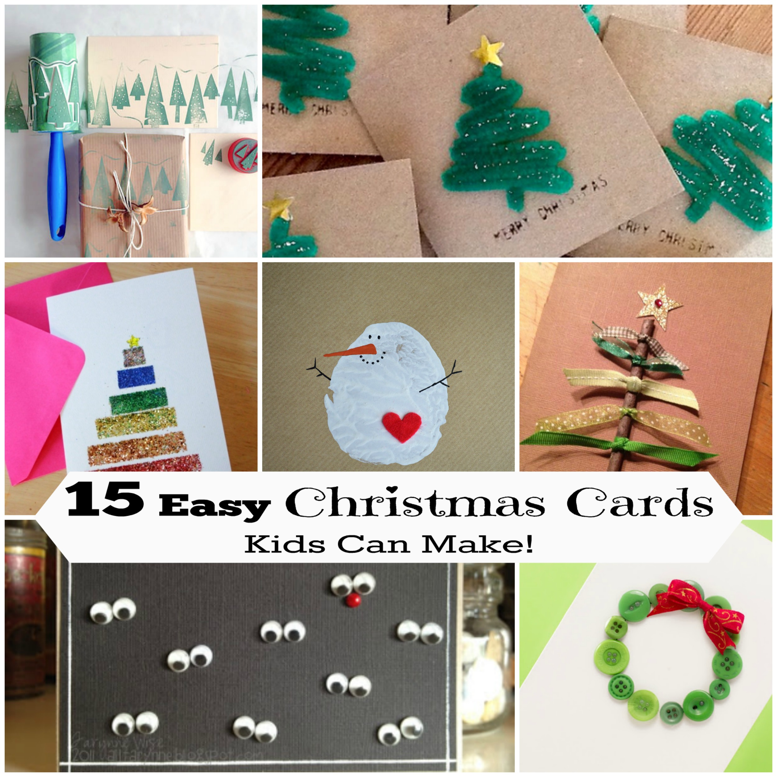 15 Diy Christmas Cards Kids Can Make Letters From Santa Blog