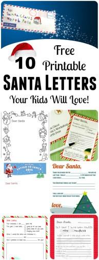 Printable Letters to Santa