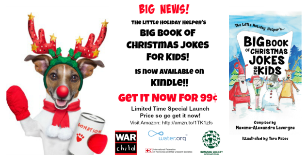 The Little Holiday Helper's Big Book of Christmas Jokes for Kids! is now available on Kindle! And for a limited time you can purchase it for only 99 cents!