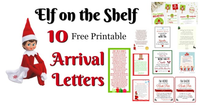 Elf on the Shelf Ideas for Arrival: 10 Free Printables! || A collection of 10 amazing free printable letters for a spectacular Elf on the Shelf arrival! || Letters from Santa Blog