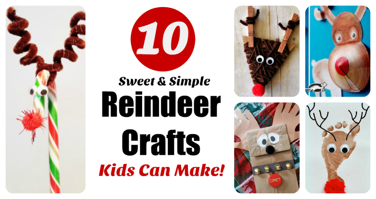 Reindeer Crafts Kids Can Make 10 Fun Ideas Letters