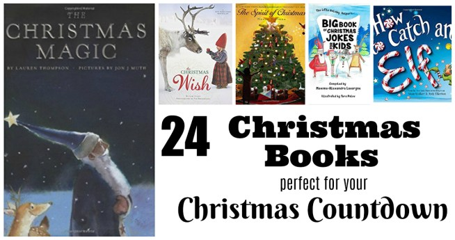 All you need is one book to get started! Add more as you can! And here is a great list of much-oved Christmas books to get you started!! 24 Books for Kids! Perfect for a fun Christmas Countdown!    Letters from Santa Holiday Blog
