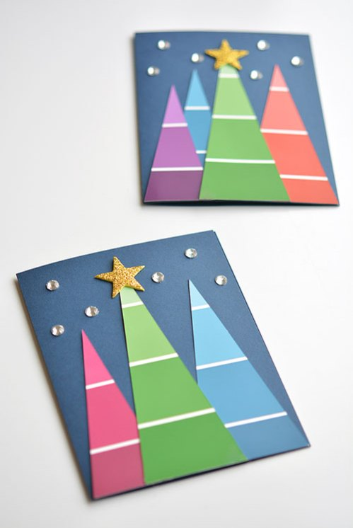 Easy Christmas Cards To Make With Children.Christmas Cards Kids Can Make 10 More Ideas Letters From