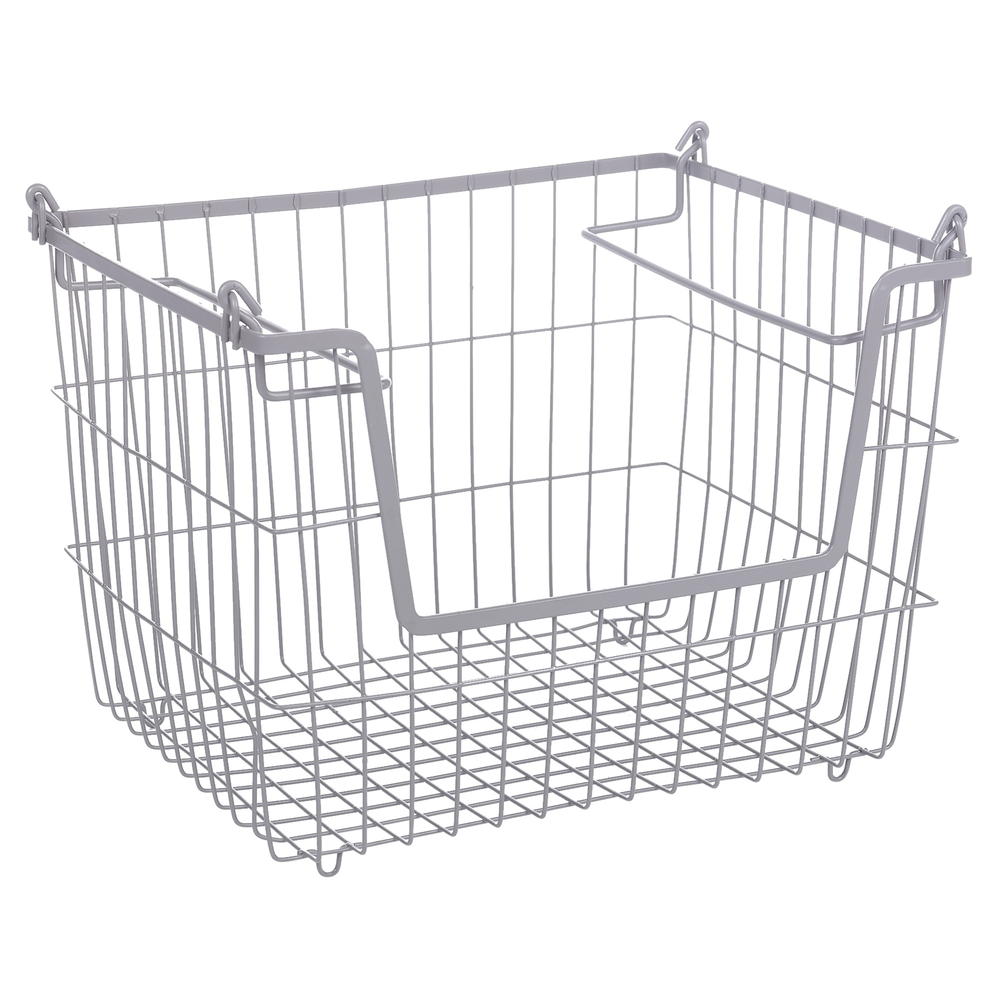 Stackable Metal Wire Storage Basket Nesting Boxes Food