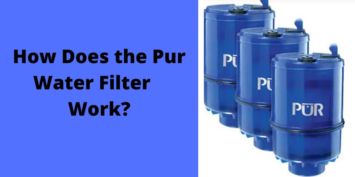 how does the pur water filter light work