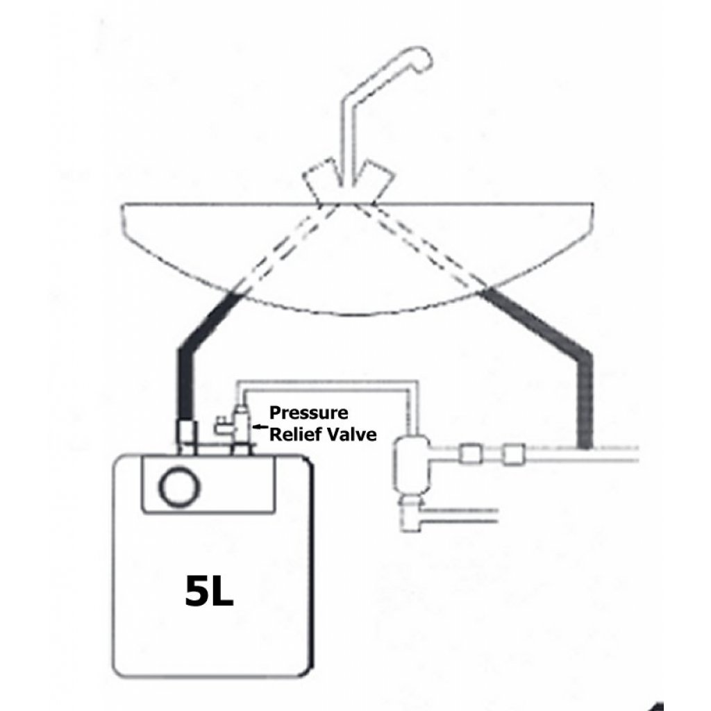 A5 Bandini Compact Undersink Unvented Electric Water