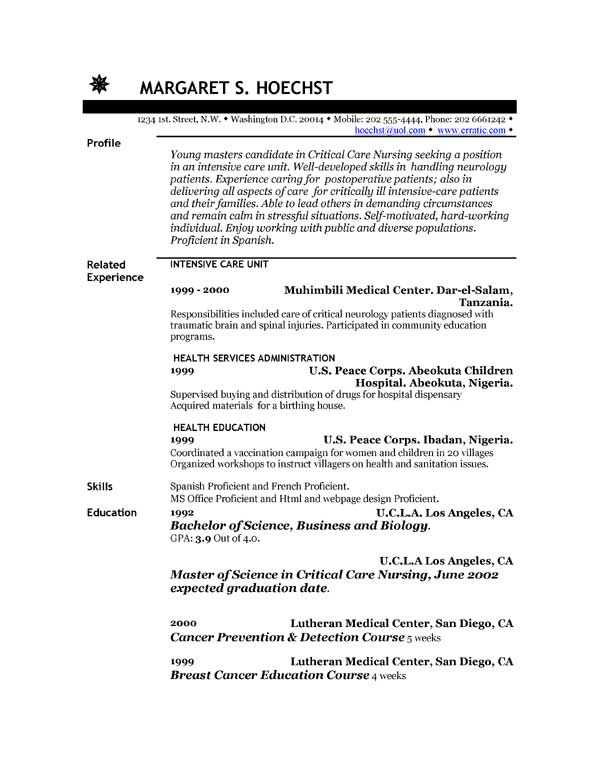 Certified Nurse Assistant Resume Template. Good Simple Resume