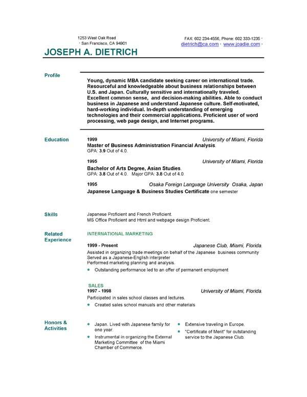 Free Online Job Resume. Templates Online Nurse Resume After One