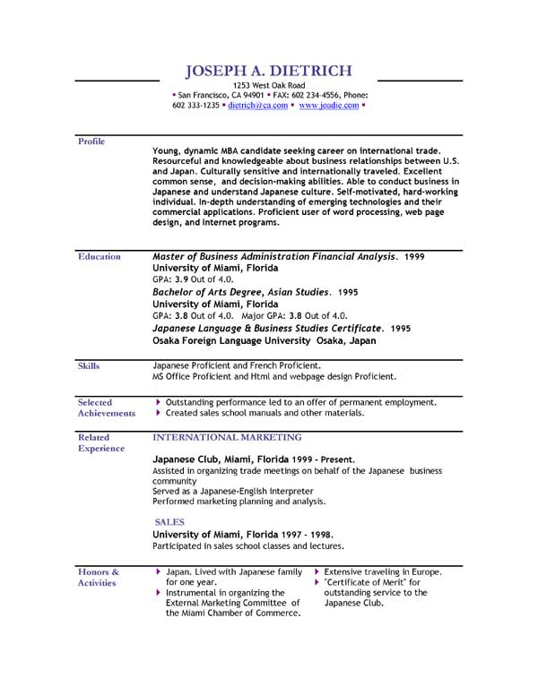 english cv template download