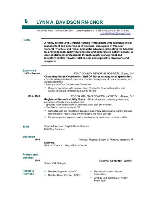 templates nursing resume templates by easyjob looking for a good