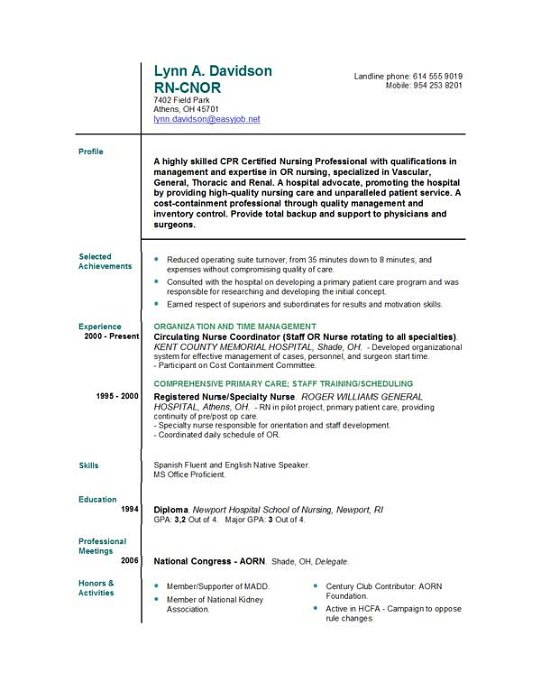 11 good rn resume samples 10 volumetrics co
