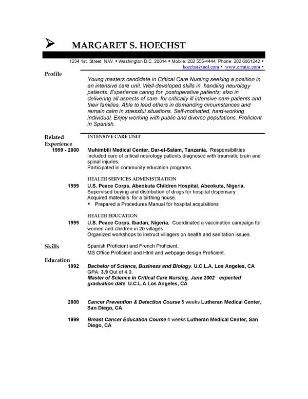 Short Resumes Examples. Resume Examples Resume Resume Objective