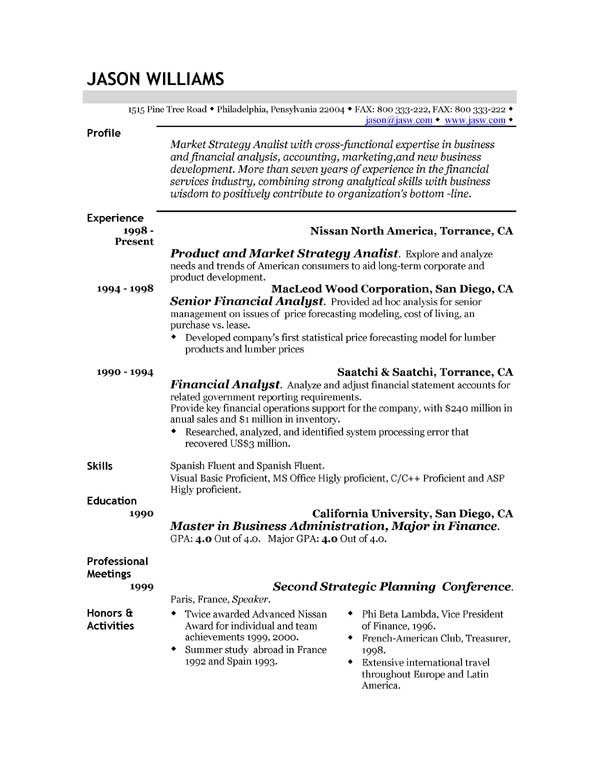 Successful Resume Templates. Pdf Business Strategy Medical Most