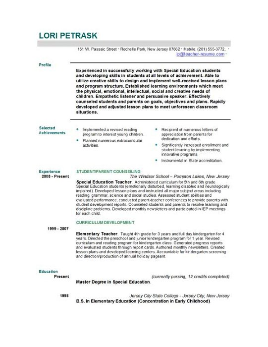 resume for teaching job gopitch co