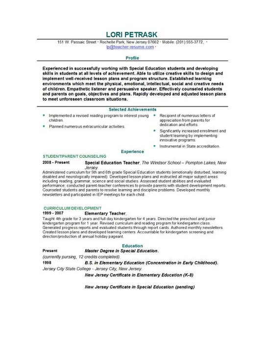 Resume Templates For Teachers Download. Resume On Pinterest
